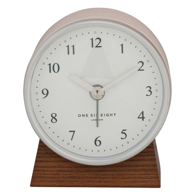 One Six Eight London Nina Alarm Clock Blush 12cm 31005 1