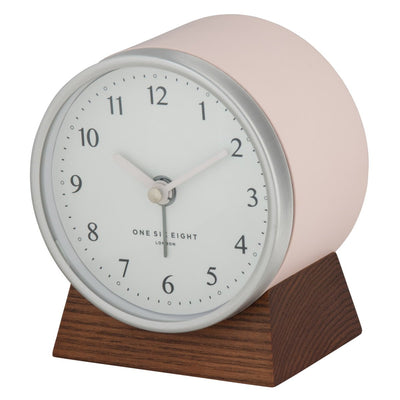 One Six Eight London Nina Alarm Clock Blush 12cm 31005 2
