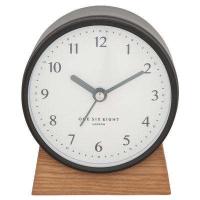 One Six Eight London Nina Alarm Clock Charcoal Grey 12cm 21026 3