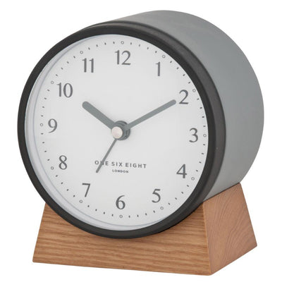 One Six Eight London Nina Alarm Clock Charcoal Grey 12cm 21026 4