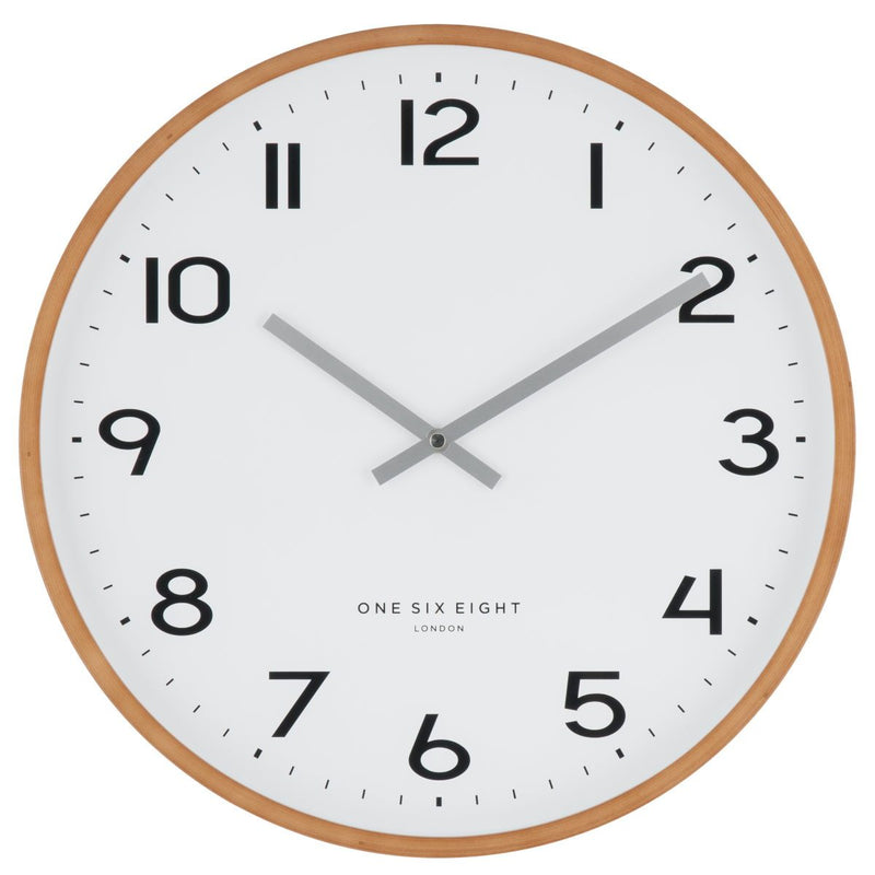 One Six Eight London Olivia Wall Clock White 53cm 21030 1