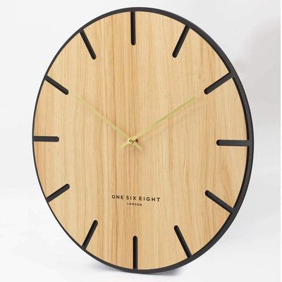 One Six Eight London Oscar Wood Veneer Markers Wall Clock 40cm 23022 2