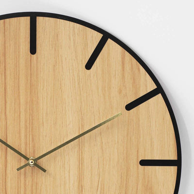 One Six Eight London Oscar Wood Veneer Markers Wall Clock 40cm 23022 3
