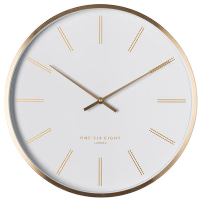 One Six Eight London Otto Metal Markers Wall Clock White 40cm 23050 1