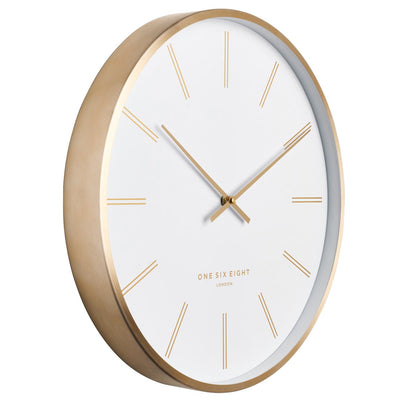 One Six Eight London Otto Metal Markers Wall Clock White 40cm 23050 2