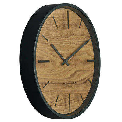 One Six Eight London Willow Wooden Wall Clock Charcoal Grey 30cm 21031 2
