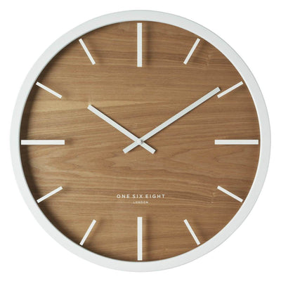 One Six Eight London Willow Wooden Wall Clock White 50cm 21032 1