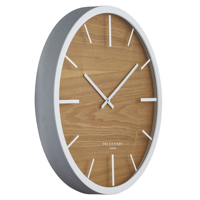 One Six Eight London Willow Wooden Wall Clock White 50cm 21032 2