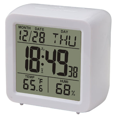 Pearl Time Ava Digital Alarm Clock White 9cm E9001WHT 1