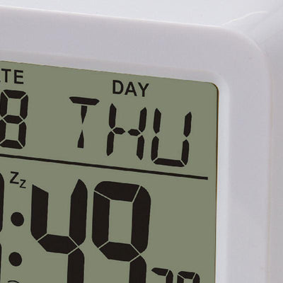 Pearl Time Ava Digital Alarm Clock White 9cm E9001WHT 2