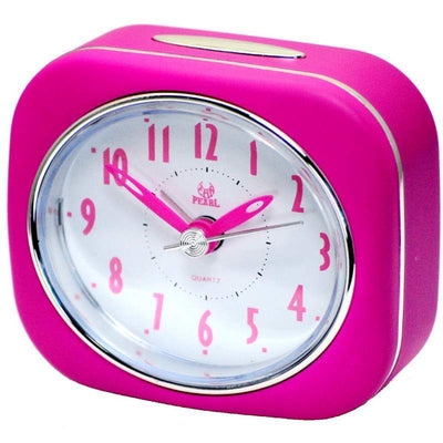 Pearl Time Betty Alarm Clock Pink 9cm PT220 PK 1