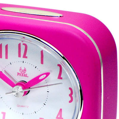 Pearl Time Betty Alarm Clock Pink 9cm PT220 PK 2