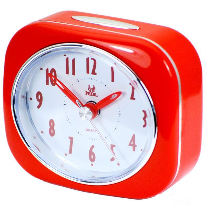 Pearl Time Betty Alarm Clock Red 9cm PT220 RD 1