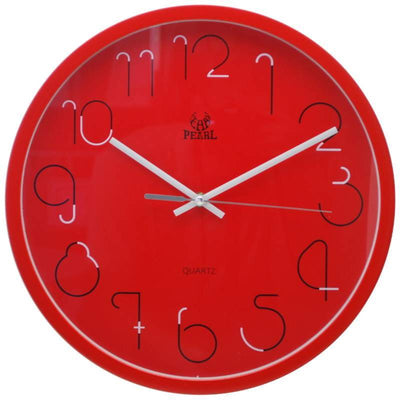 Pearl Time Gatsby Wall Clock Red 36cm PW331RED 1