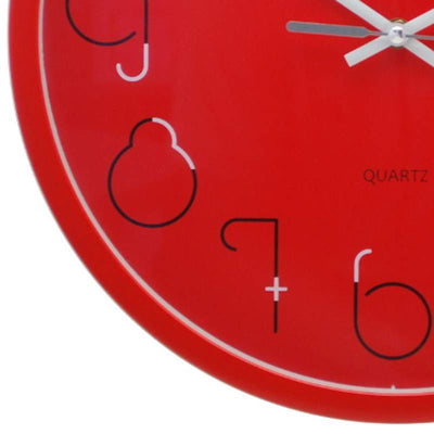 Pearl Time Gatsby Wall Clock Red 36cm PW331RED 3