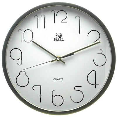 Pearl Time Gatsby Wall Clock Silver 36cm PW331SIL 1