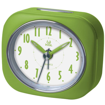 Pearl Time Zia Table Alarm Clock Lime Green 9cm PT220 LGN 1