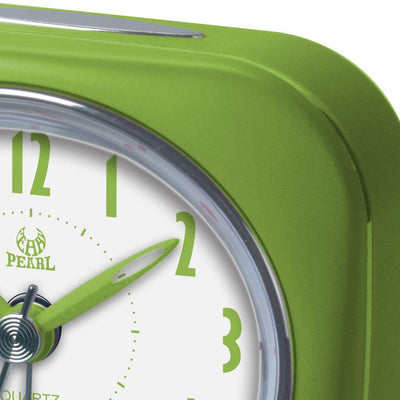 Pearl Time Zia Table Alarm Clock Lime Green 9cm PT220 LGN 2