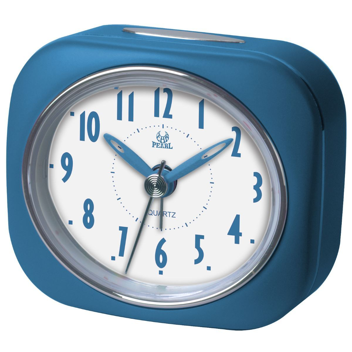 Pearl Time Zia Table Alarm Clock, Medium Blue, 9cm