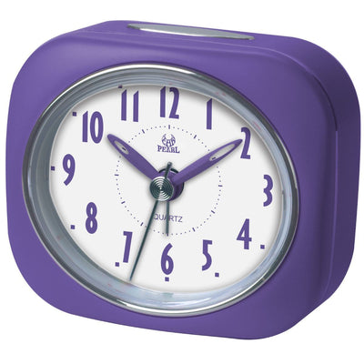 Pearl Time Zia Table Alarm Clock Purple 9cm PT220 PUR 1