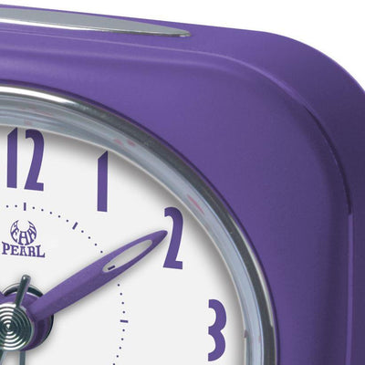 Pearl Time Zia Table Alarm Clock Purple 9cm PT220 PUR 2