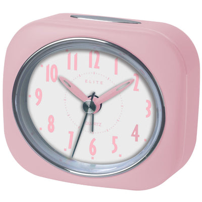 Pearl Time Zia Table Alarm Clock Strawberry Pink 9cm PT220 SPK 1