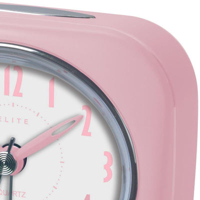 Pearl Time Zia Table Alarm Clock Strawberry Pink 9cm PT220 SPK 2