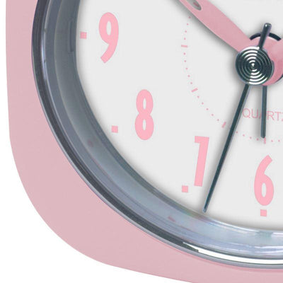 Pearl Time Zia Table Alarm Clock Strawberry Pink 9cm PT220 SPK 3