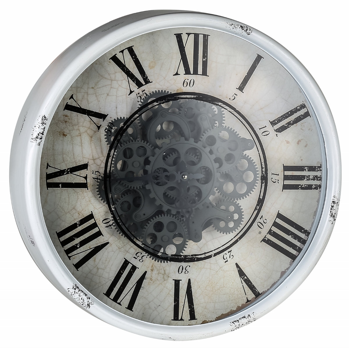 4fa218945a Buy Round Mirror Moving Cogs Wall Clock 50cm Online | Oh Clocks