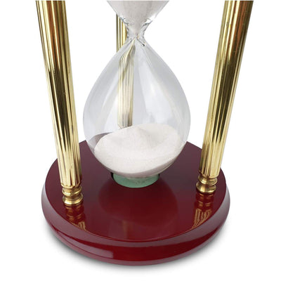 Saishwari Harrison Brass and Timber 15 Minute Sand Hourglass 18cm SAI-020A 4