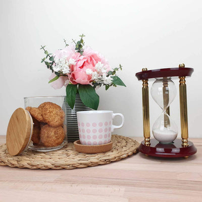 Saishwari Harrison Brass and Timber 15 Minute Sand Hourglass 18cm SAI-020A 5