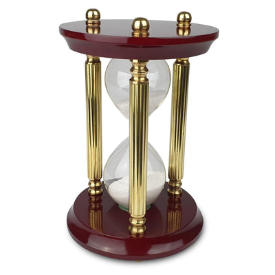 Saishwari Harrison Brass and Timber 30 Minute Sand Hourglass 24cm SAI-020B 2