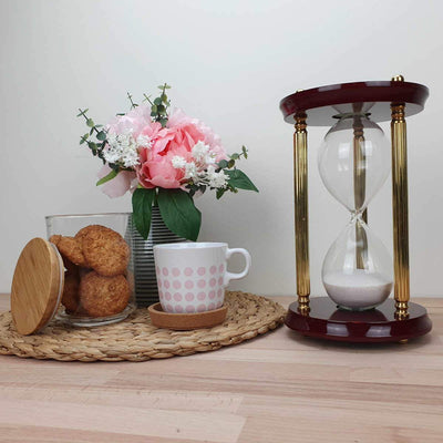 Saishwari Harrison Brass and Timber 30 Minute Sand Hourglass 24cm SAI-020B 5