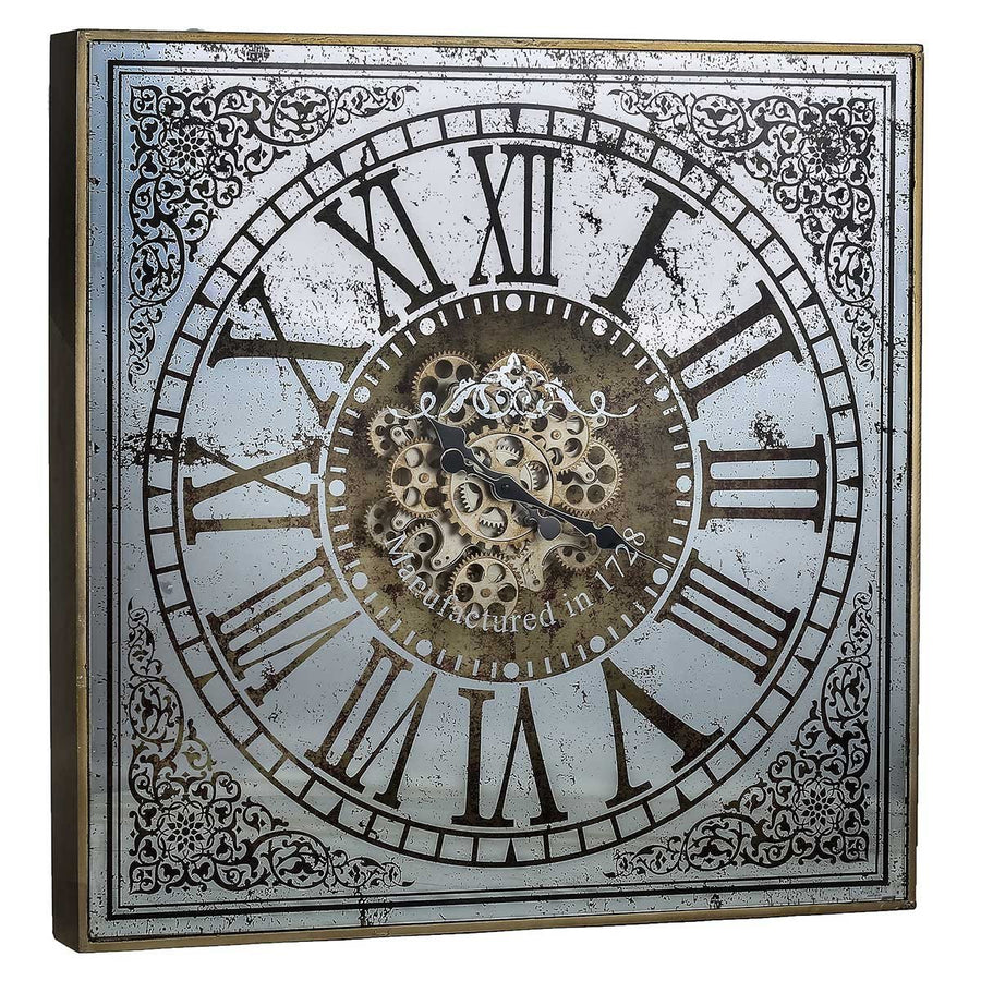 Exposed gear wall clock gears wall clock 25 inch broadway a sawyer moving cogs mirror metal wall clock 82cm angle amipublicfo Image collections