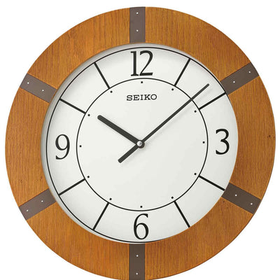 Seiko Mason Wooden Pendulum Wall Clock Light Brown 55cm QXC241-A 2