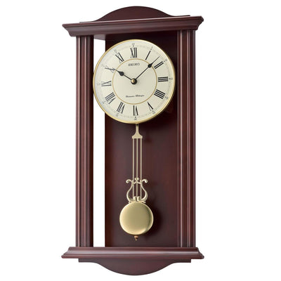 Seiko Reyes Wooden Pendulum Chiming Wall Clock 57cm QXH072-B 1