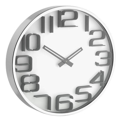TFA 3D Effect Wall Clock White 30cm 60.3016.02