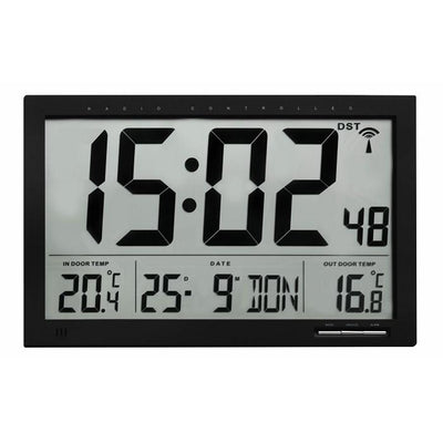 TFA Atomic Temperature Wall or Table Alarm Clock 37cm Front