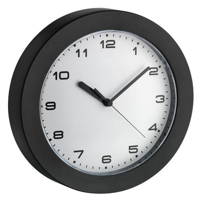 TFA Black Rim White Face Wall Clock 23cm 60.3022.01