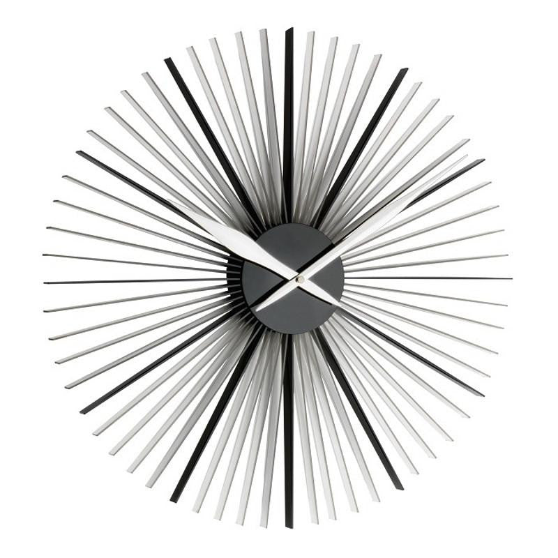 TFA Daisy Wall Clock Transparent Black 50cm 60.3023.01