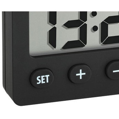 TFA Digital Alarm Clock with Timer and Stopwatch 6cm buttons