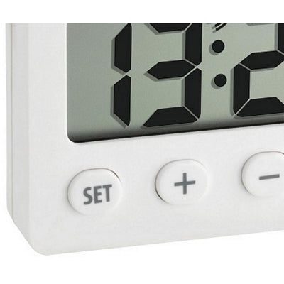 TFA Digital Alarm Clock with Timer and Stopwatch White 6cm 60.2014.02 Bottom