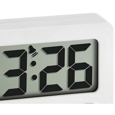 TFA Digital Alarm Clock with Timer and Stopwatch White 6cm 60.2014.02 Top