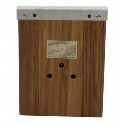 TFA Domatic Indoor and Outdoor Weather Station Oiled Oak 26cm 20.1079.01 Back