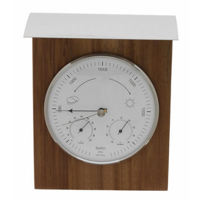 TFA Domatic Indoor and Outdoor Weather Station Oiled Oak 26cm 20.1079.01 Face
