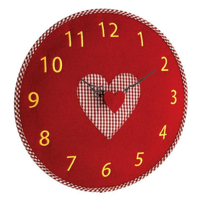 TFA Heart Felt Wall Clock Red 33cm 60.3025.05