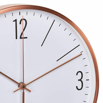 TFA Germany Adrian Analogue Copper Frame Wall Clock Copper and White 30cm 60.3534.51 2