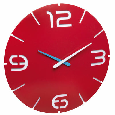 TFA Germany Alexi Contour Design Analogue Wall Clock Red 35cm 60.3047.05 1