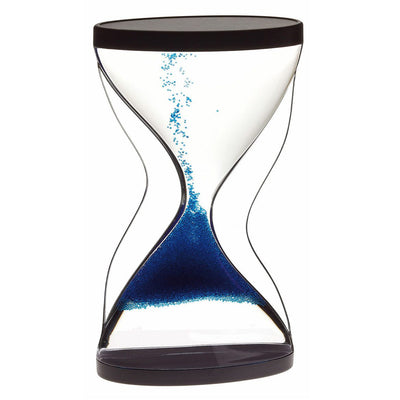 TFA Germany Contra Reverse Flowing Hourglass Black Blue 12cm 18.6008.06 1