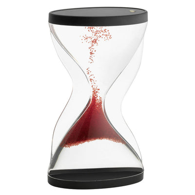 TFA Germany Contra Reverse Flowing Hourglass Black Red 12cm 18.6004.05 1